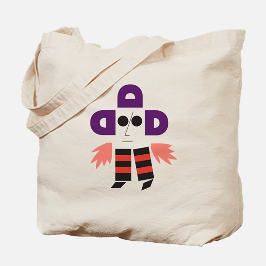 Cute Letterform Tote Bag