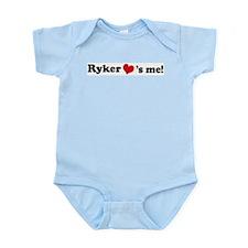 Ryker loves me Infant Creeper