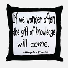 Gift of Knowledge Throw Pillow