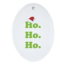 Ho.Ho.Ho. Ornament (Oval)