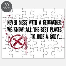 Geocaching - never mess dark Puzzle