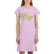 Geocaching FOUND IT green Women's Nightshirt