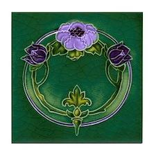 Purple Flower Tile Coaster