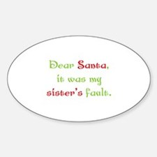 Dear Santa Decal