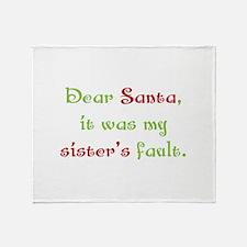 Dear Santa Throw Blanket