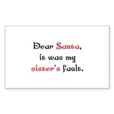 Dear Santa Decal