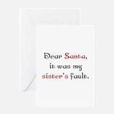 Dear Santa Greeting Card