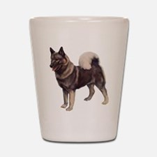 Norwegian elkhound Portrait Shot Glass