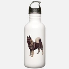 Norwegian elkhound Portrait Water Bottle