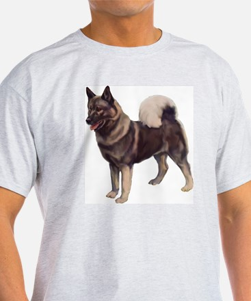 Norwegian elkhound Portrait T-Shirt