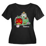 PeRoPuuu7 Women's Plus Size Scoop Neck Dark T-Shir