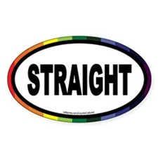 Straight Euros Oval Decal