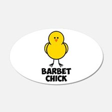 Barbet Chick 22x14 Oval Wall Peel