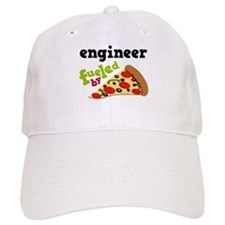 Engineer Fueled By Pizza Baseball Cap