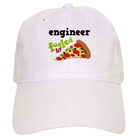 Engineer Fueled By Pizza Cap