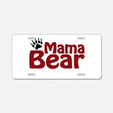 Mama Bear Claw Aluminum License Plate