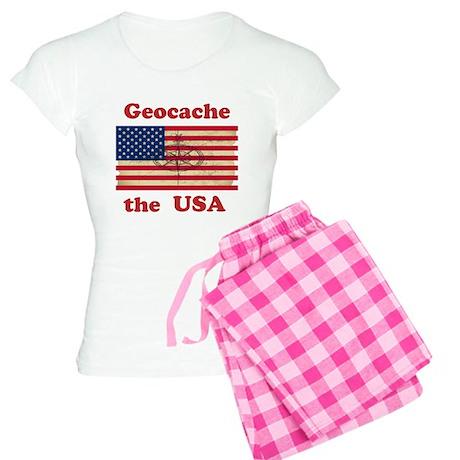 Geocache the USA Women's Light Pajamas