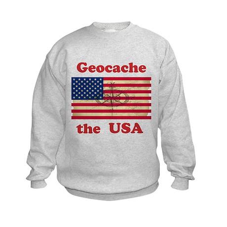 Geocache the USA Kids Sweatshirt