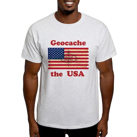 Geocache the USA Light T-Shirt