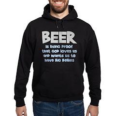 Beer Is Proof Hoodie (dark)