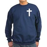 White Cross Sweatshirt (dark)