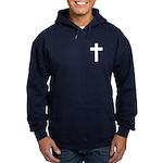 White Cross Hoodie (dark)