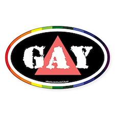 Gay Euros Oval Decal