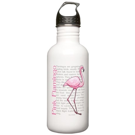 Pink Flamingo Stainless Water Bottle 1.0L