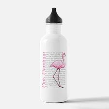 Pink Flamingo Water Bottle