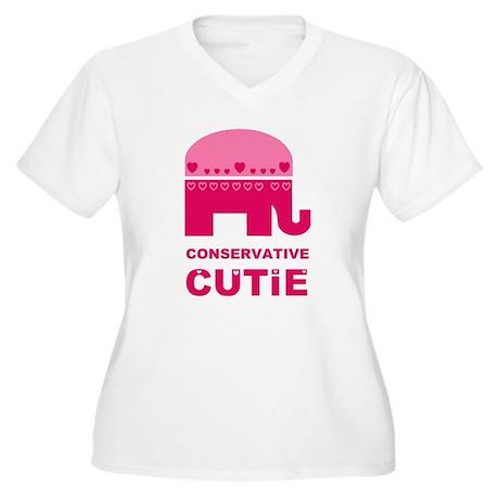 Conservative Cutie Women's Plus Size V-Neck T-Shir