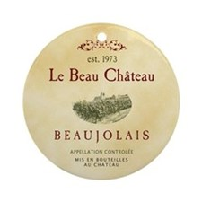 Le Beau Chateau Ornament (Round)