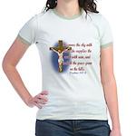 Inspirational Bible sayings Jr. Ringer T-Shirt