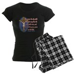 Inspirational Bible sayings Women's Dark Pajamas