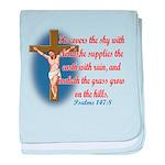Inspirational Bible sayings baby blanket