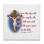 Inspirational Bible sayings Tile Coaster