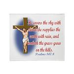 Inspirational Bible sayings Throw Blanket