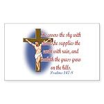 Inspirational Bible sayings Sticker (Rectangle)