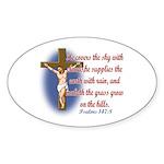 Inspirational Bible sayings Sticker (Oval 10 pk)