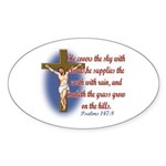 Inspirational Bible sayings Sticker (Oval 50 pk)