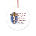 Inspirational Bible sayings Ornament (Round)