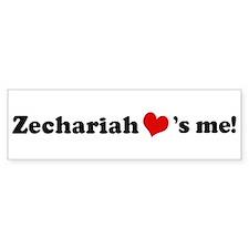 Zechariah loves me Bumper Bumper Sticker