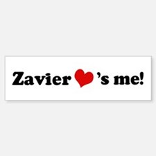 Zavier loves me Bumper Bumper Bumper Sticker