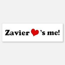 Zavier loves me Bumper Car Car Sticker