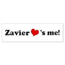 Zavier loves me Bumper Car Sticker