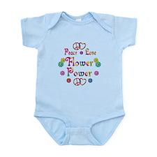 Peace Love Flower Power Infant Bodysuit