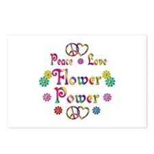 Peace Love Flower Power Postcards (Package of 8)