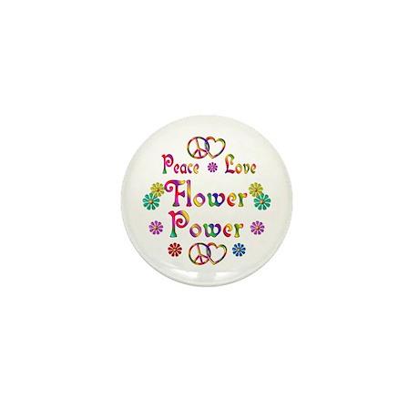 Peace Love Flower Power Mini Button (100 pack)