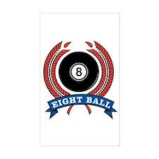 Eight Ball Rectangle Decal