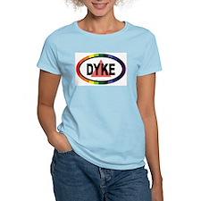 Dyke Euros Women's Pink T-Shirt