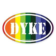 Dyke Euros Oval Decal